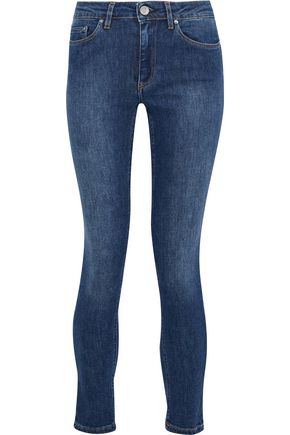 ACNE STUDIOS Mid-rise faded skinny jeans