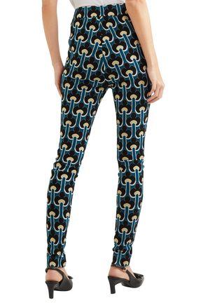 MARNI Cotton-blend jacquard-knit skinny pants