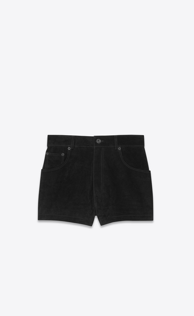 SAINT LAURENT Short Pants Woman suede shorts a_V4