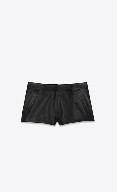 SAINT LAURENT Short Trousers Woman lambskin shorts a_V4