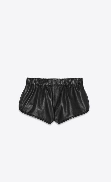 SAINT LAURENT Short Trousers Woman lambskin boxing shorts a_V4