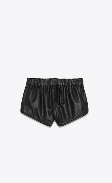 SAINT LAURENT Short Trousers Woman lambskin boxing shorts b_V4