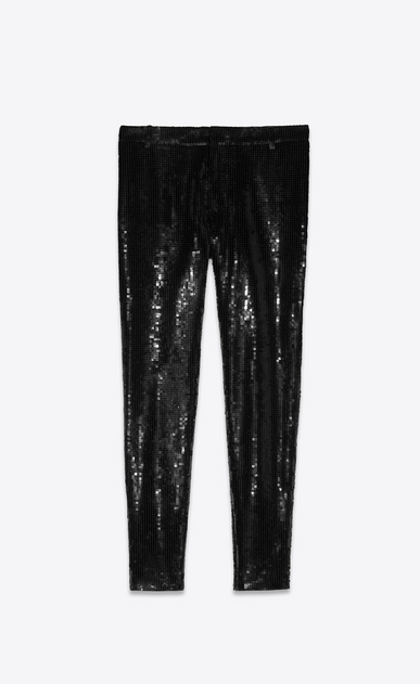 SAINT LAURENT Classic Pant Woman all over SEQUINED PANTS a_V4