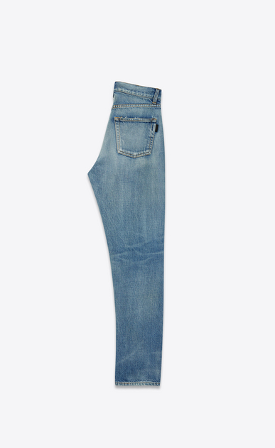 SAINT LAURENT Slim fit Woman light vintage indigo twill slim fit denims b_V4