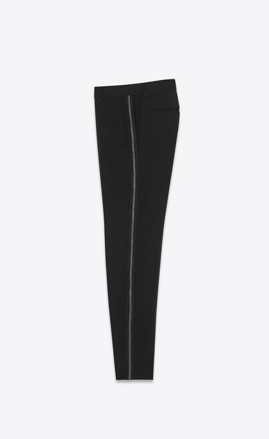 SAINT LAURENT Classic Pant Woman embroidered tux pants in grain de poudre b_V4