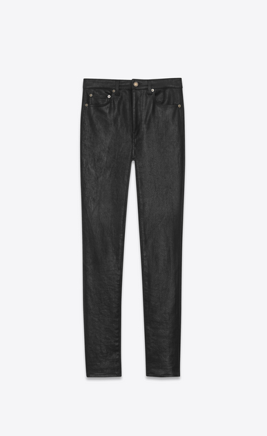 SAINT LAURENT Skinny fit Woman high waist skinny denim pants a_V4
