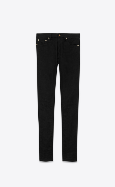 SAINT LAURENT Skinny fit Woman studded pocket skinny denim pants a_V4