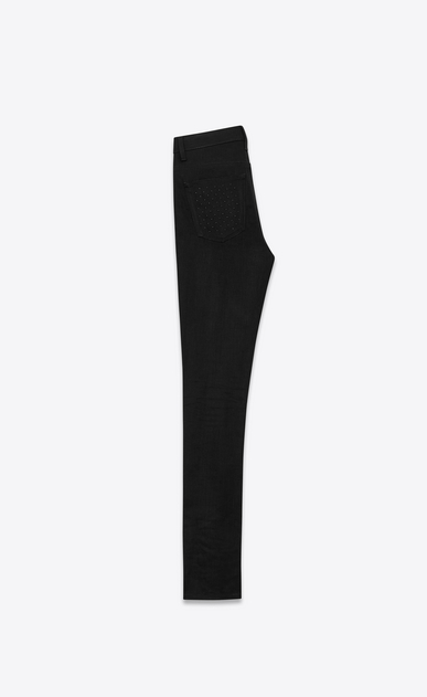 SAINT LAURENT Skinny fit Woman studded pocket skinny denim pants b_V4