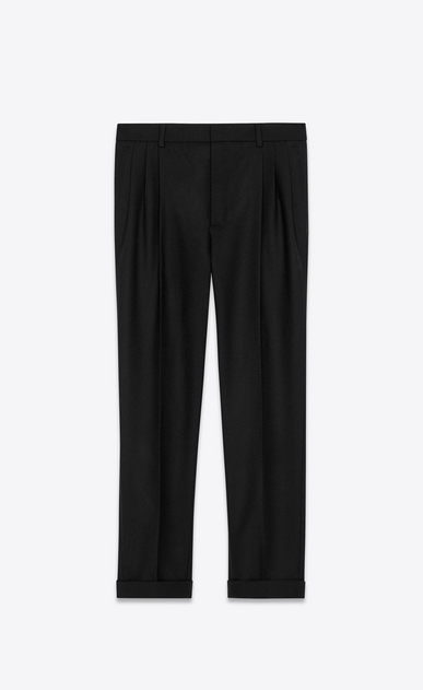 pleated pants in wool gabardine