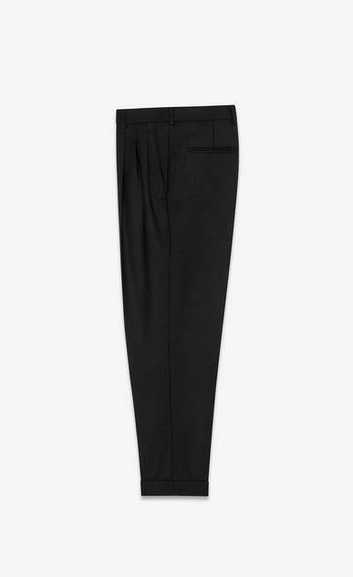SAINT LAURENT Classic Pant Woman pleated pants in wool gabardine b_V4
