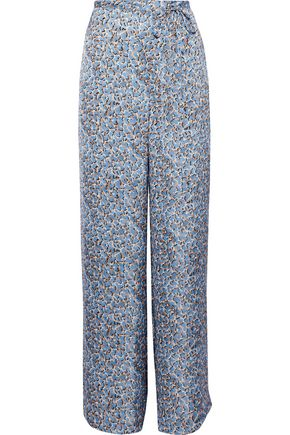 ACNE STUDIOS Printed satin wide-leg pants
