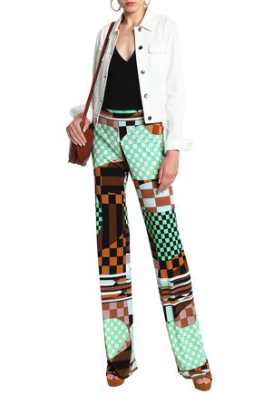 EMILIO PUCCI Printed stretch-jersey straight-leg pants