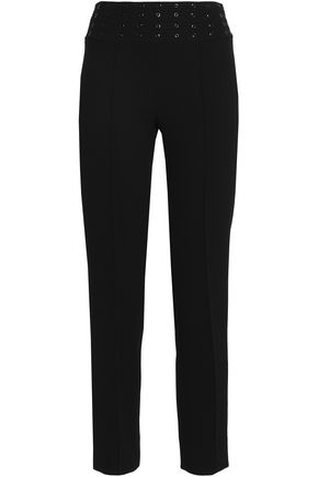 EMILIO PUCCI Embellished wool-blend crepe straight-leg pants
