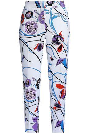 EMILIO PUCCI Floral-print cotton-blend tapered pants