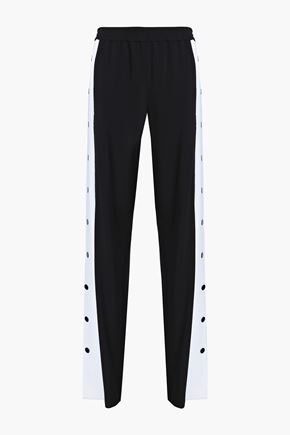 EMILIO PUCCI Two-tone crepe straight-leg pants