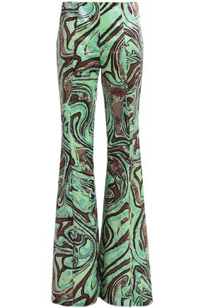 EMILIO PUCCI Printed chenille flared pants