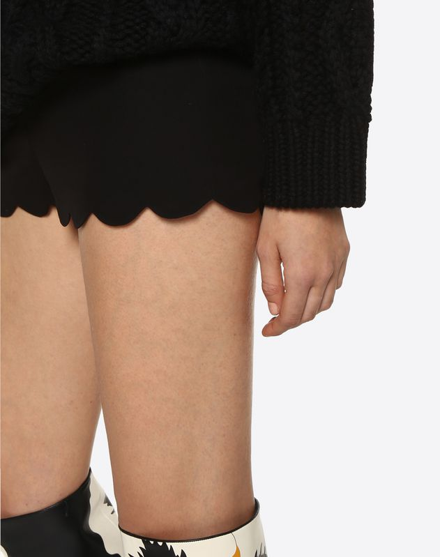 Scalloped Cady Couture Shorts