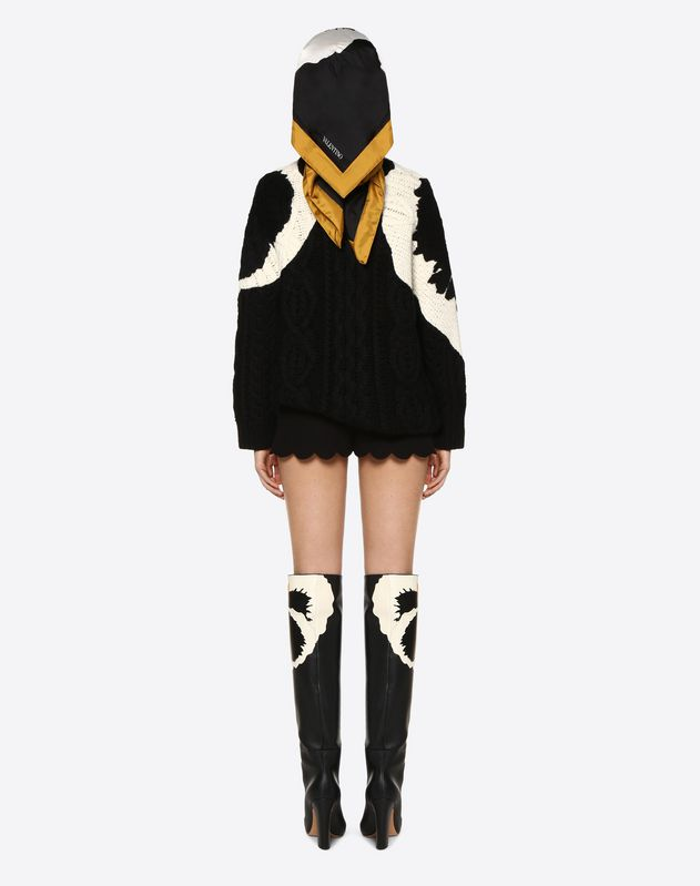 Short festonné en cady couture