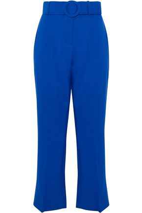 W118 by WALTER BAKER Belted cady kick-flare pants