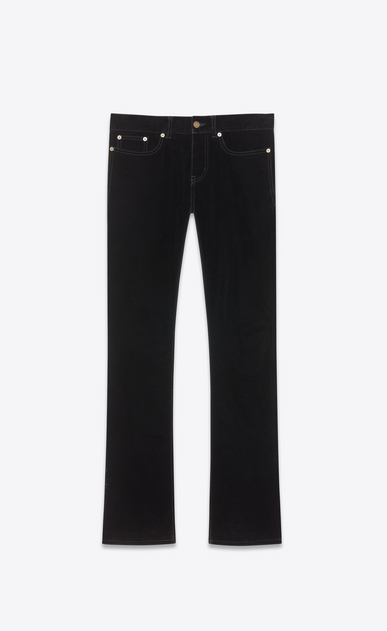 SAINT LAURENT Denim Trousers Man velvet bootcut denim pants a_V4