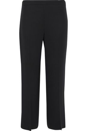 CAROLINA HERRERA Cropped silk-crepe straight-leg pants