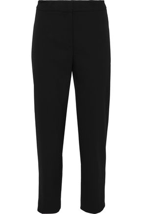 CAROLINA HERRERA Cropped wool-blend twill tapered pants