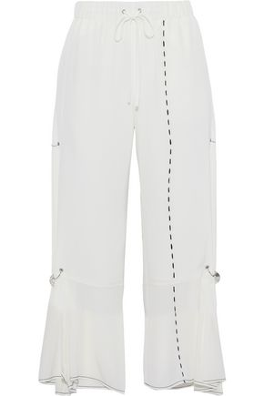 3.1 PHILLIP LIM Ring-embellished silk kick-flare pants