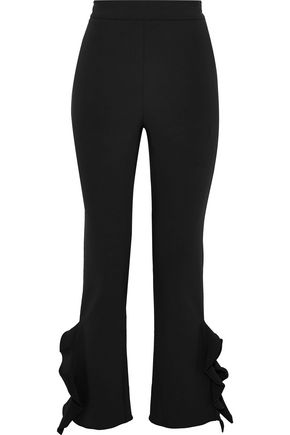 OPENING CEREMONY Ruffled stretch-knit slim-leg pants