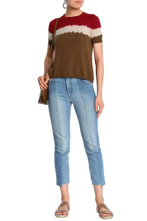 ISABEL MARANT ÉTOILE Faded high-rise slim-leg jeans