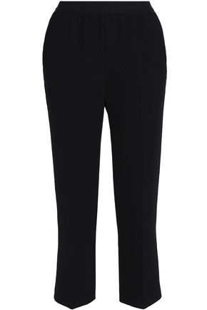 AGNONA   Agnona Woman Stretch-wool Straight-leg Pants Black   Goxip