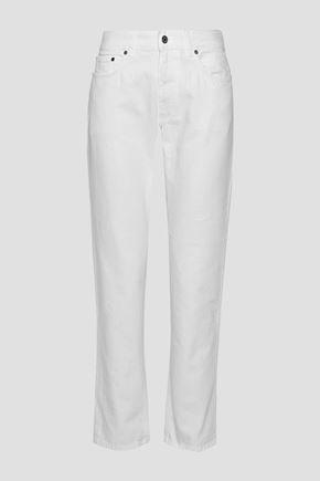 Boy high-rise straight-leg jeans