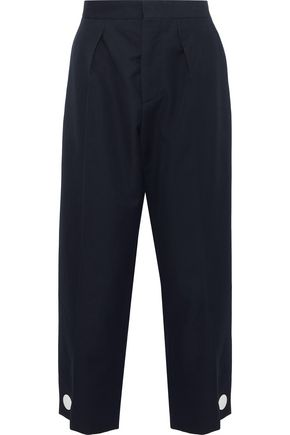 MARNI Button-detailed wool-twill wide-leg pants