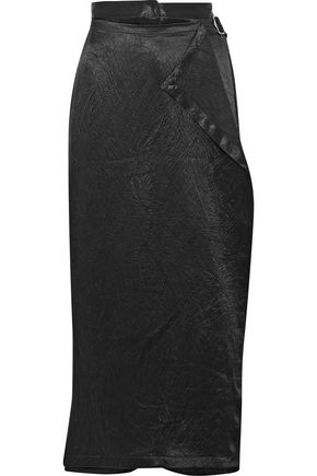OPENING CEREMONY Wrap-effect crinkled-satin culottes