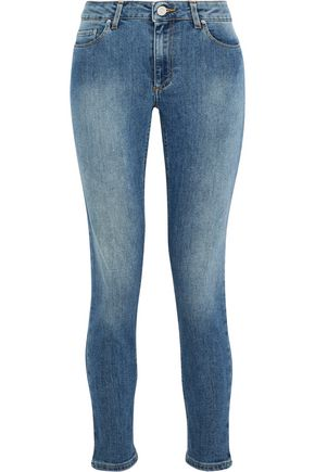 ACNE STUDIOS Skin 5 faded low-rise skinny jeans