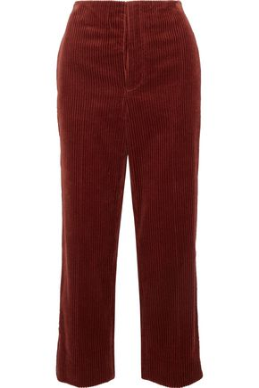 MARNI Cropped cotton-corduroy wide-leg pants