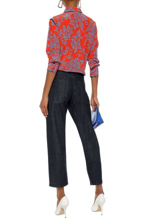 MARNI Cropped mid-rise straight-leg jeans