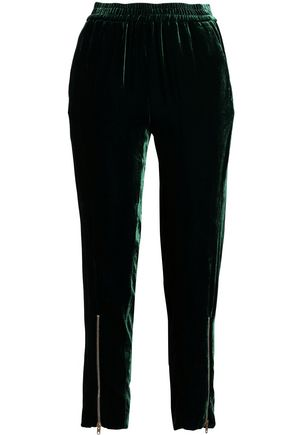 SANDRO Velvet tapered pants