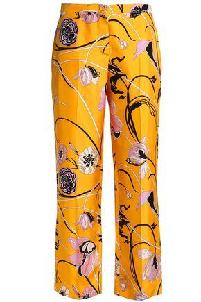 EMILIO PUCCI Printed silk-twill straight-leg pants