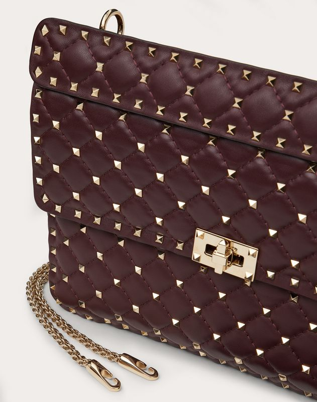 Large Rockstud Spike Nappa Leather Bag