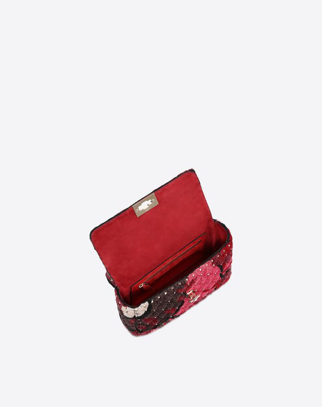 Medium Embroidered Velvet Spike Bag