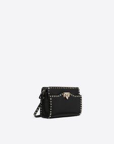 Medium grain calfskin leather Rockstud Crossbody Bag
