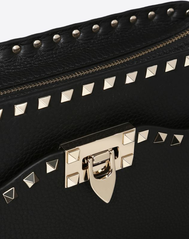Medium grain calfskin leather Rockstud Crossbody Bag