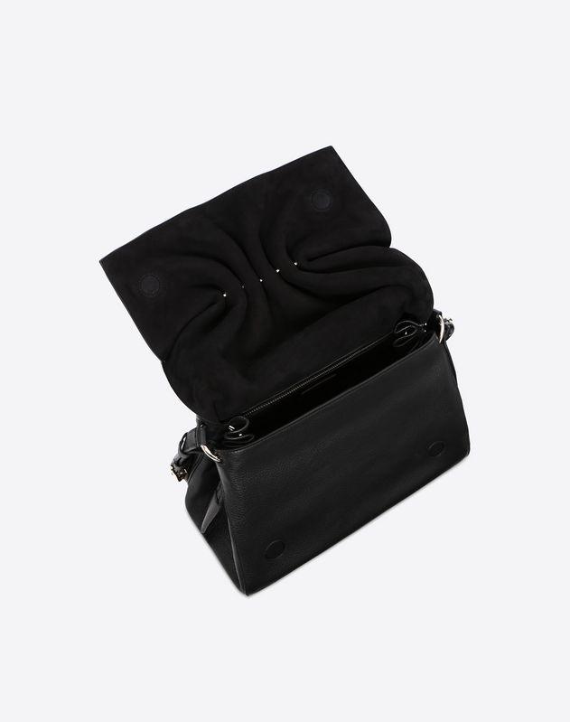 Bloomy卷褶斜挎包 黑色