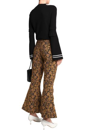 MOTHER OF PEARL Jacquard flared pants