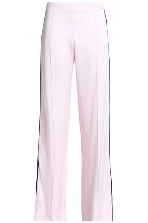 MOTHER OF PEARL Satin-crepe wide-leg pants