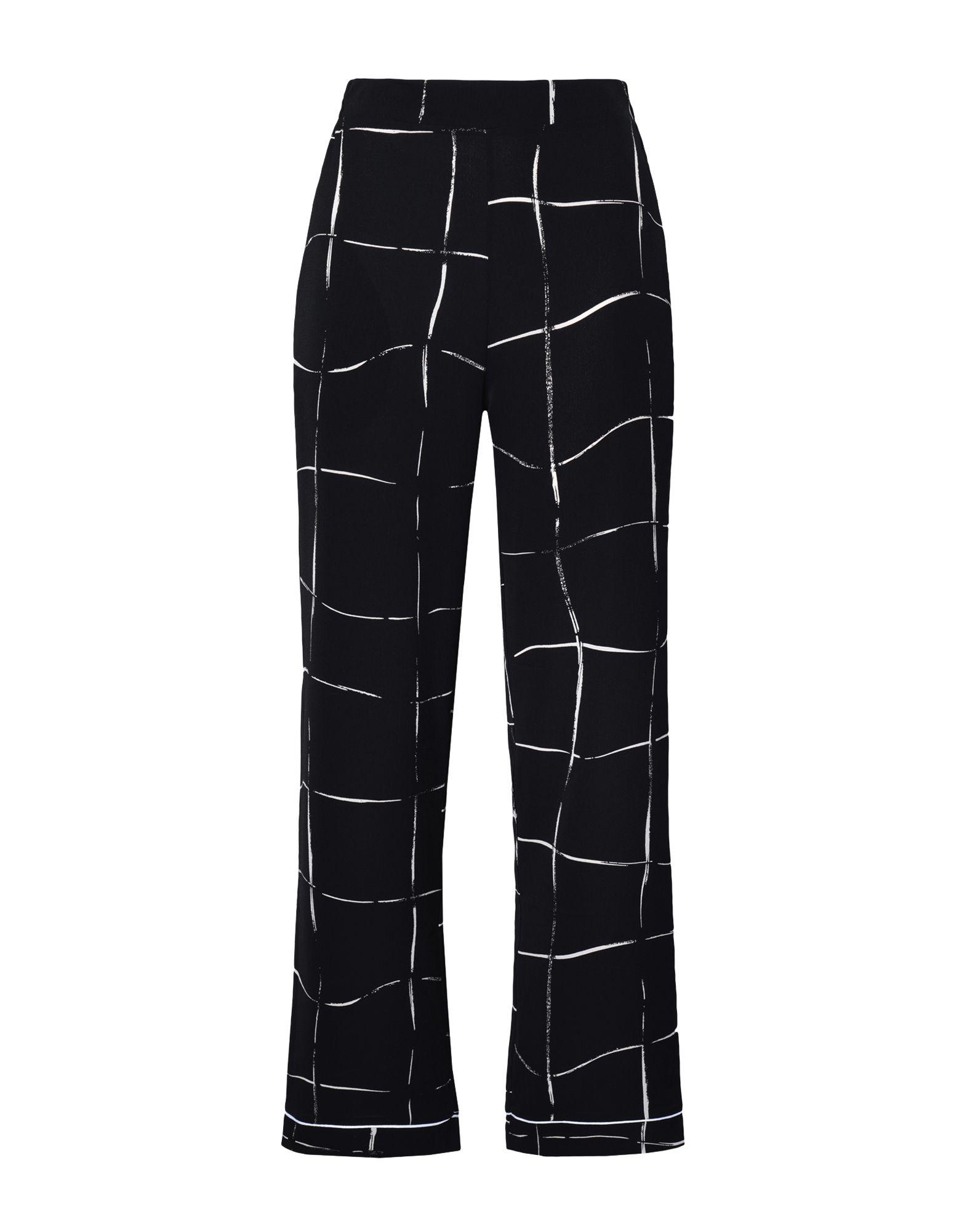 8 by YOOX Повседневные брюки брюки дудочки 7 8 с жаккардовым рисунком в горошек