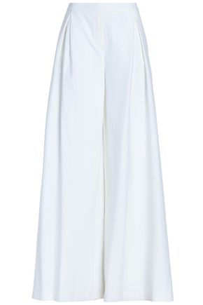 CAROLINA HERRERA Cotton-blend jacquard wide-leg pants