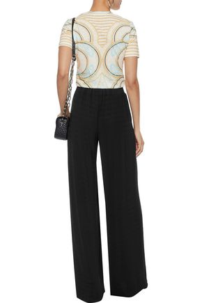 PIERRE BALMAIN Stretch-jersey wide-leg pants