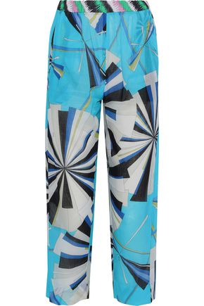 7865de094408 EMILIO PUCCI Cropped printed cotton-voile straight-leg pants
