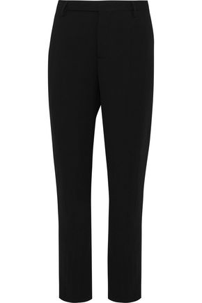 RICK OWENS Austin cropped wool-blend crepe tapered pants